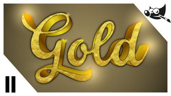 GIMP Letras de oro