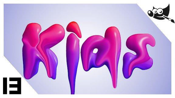 GIMP Letras efecto pintura
