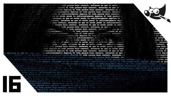 GIMP Imagen hecha con texto