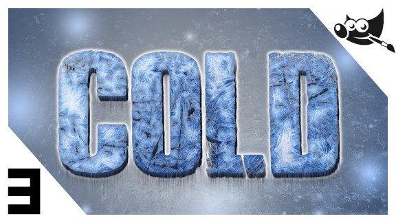 GIMP Letras de hielo