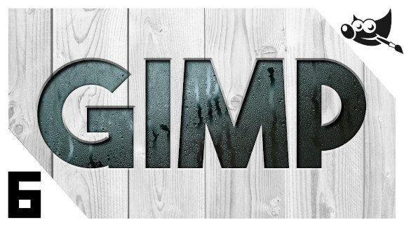 GIMP Letras efecto hundido