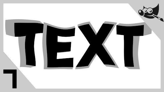 GIMP Letras con efecto 3d