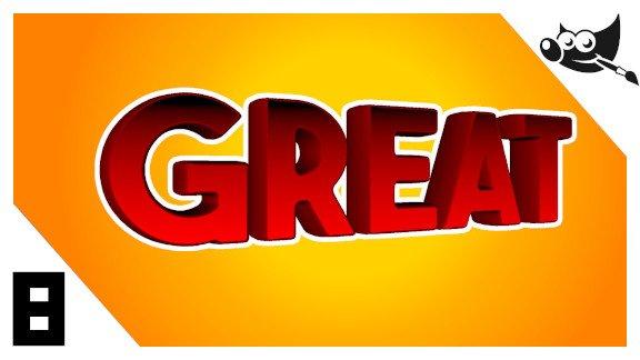 GIMP Letras 3d con GMIC