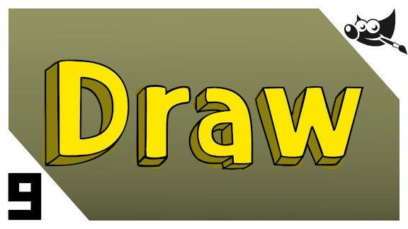 GIMP Letras con tipografía 3d