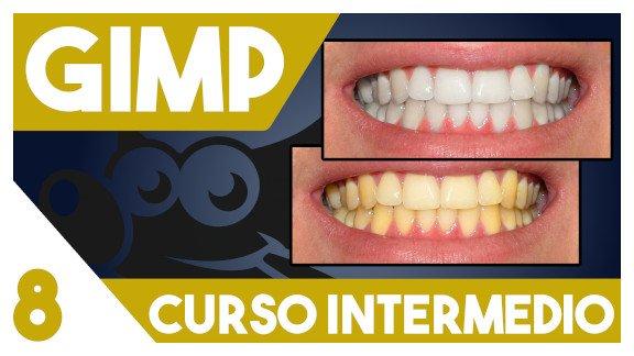 GIMP Blanquear dientes